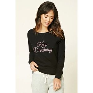Forever 21 | Black Keep Dreaming Sweatshirt